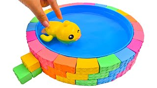 Satisfying Video | How To Make Rainbow Pool with Kinetic Sand Cutting ASMR #323