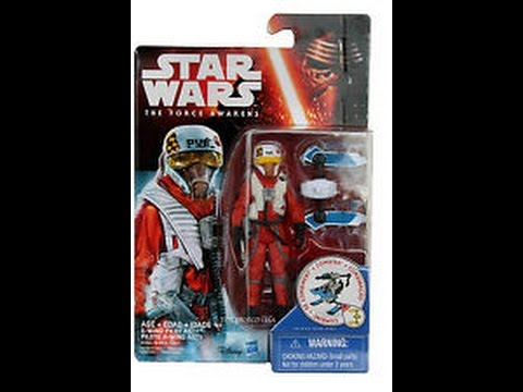 Star Wars The Force Awakens 3.75 Inch Figure Snow Mission ~ X Wing Pilot Asty