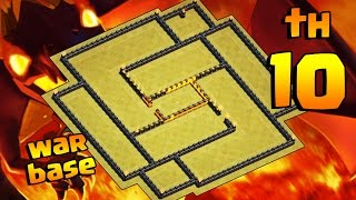 CLASH OF CLANS - INCRÍVEL LAYOUT CV10 DE GUERRA [ANTI VALQUÍRIA] BEST TH10 WAR BASE [ANTI VALKYRIE]