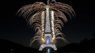 La Fête nationale française - Paris - Tour Eiffel - 14 juillet 2015 (Feu d