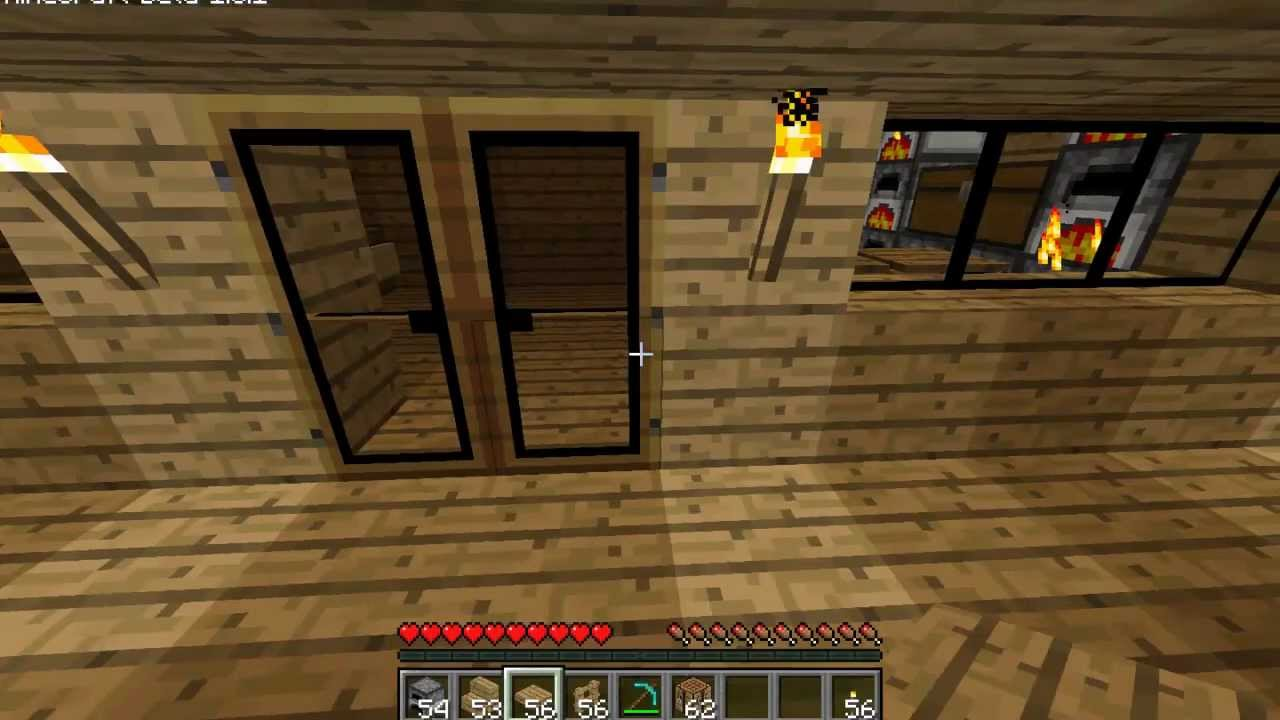 Minecraft let 39 s build a modern house pt 1 ep 3 - How to make a nice living room in minecraft ...