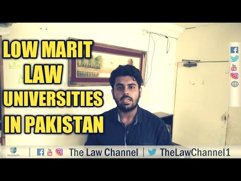 LOW MERIT LLB UNIVERSITIES | LOW MARKS STUDENTS | THE LAW CHANNEL