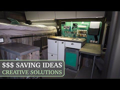 How I Built DIY Camper Van For $6000 / Smart Ideas For Conversion!