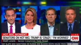 Sena Reed and Collins on a hot mic 'Trump is Crazy' and 'I'm Worried'