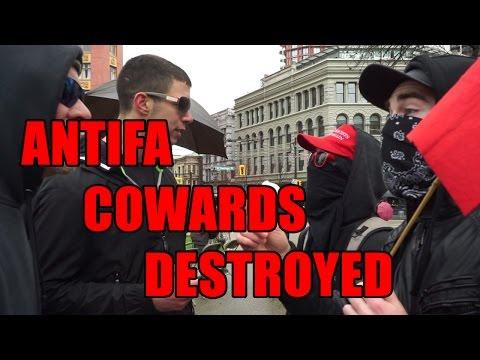 Squatting Slav TV vs. Antifa Cowards