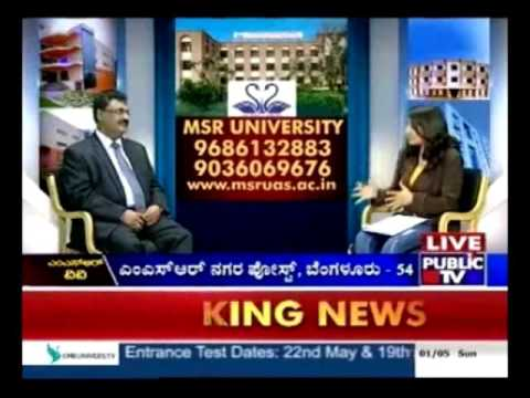 Specialities of Ramaiah University - Public TV Interview with VC