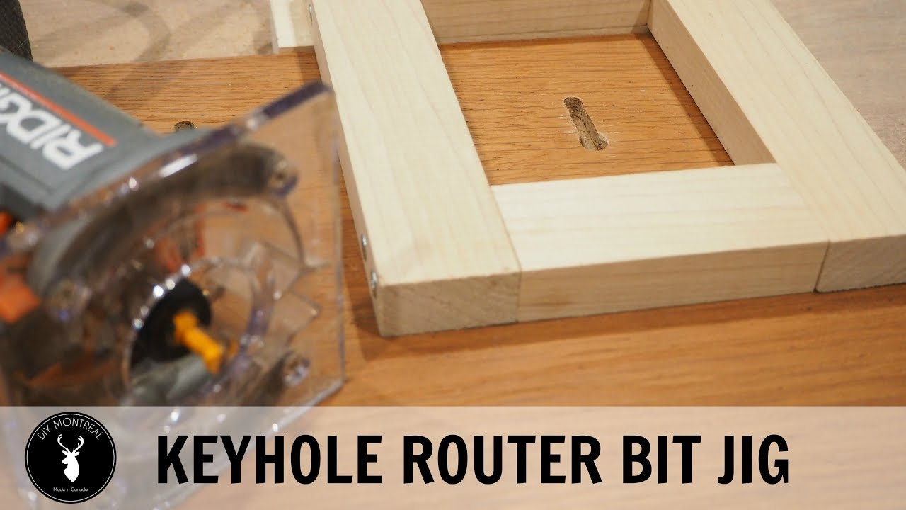 How To Make A Keyhole Router Bit Jig Youtube