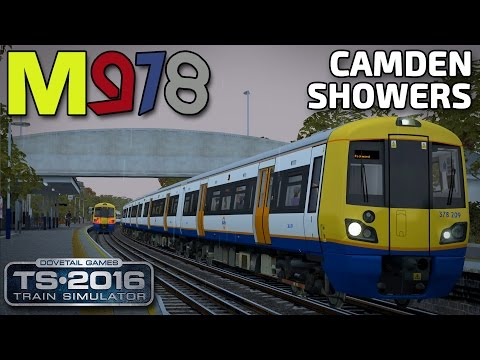 Camden Showers! | TS2016 | Class 378 Capitalstar | North London Line