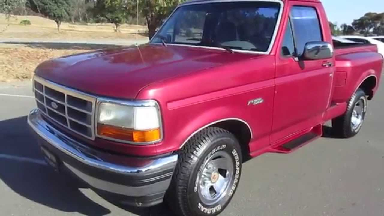 1994 Red Ford Flareside Truck Walkaround
