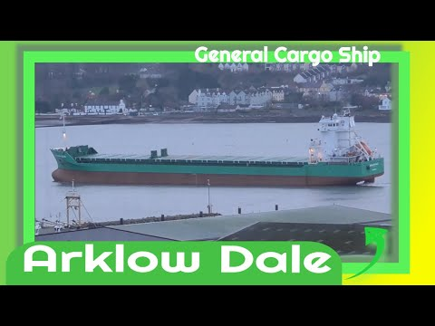 General Cargo Ship - Arklow Dale departs Warrenpoint Harbour for Ringaskiddy Port Ireland