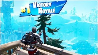 Fortnite Tilted Towers Win (Solo Victory Royale) - Hunting Party A.I.M Skin Gameplay