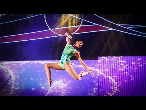 Lucy Mecklenburgh's Aerial Performance to 'Somewhere Only We Know' - Tumble: Episode 2 - BBC One