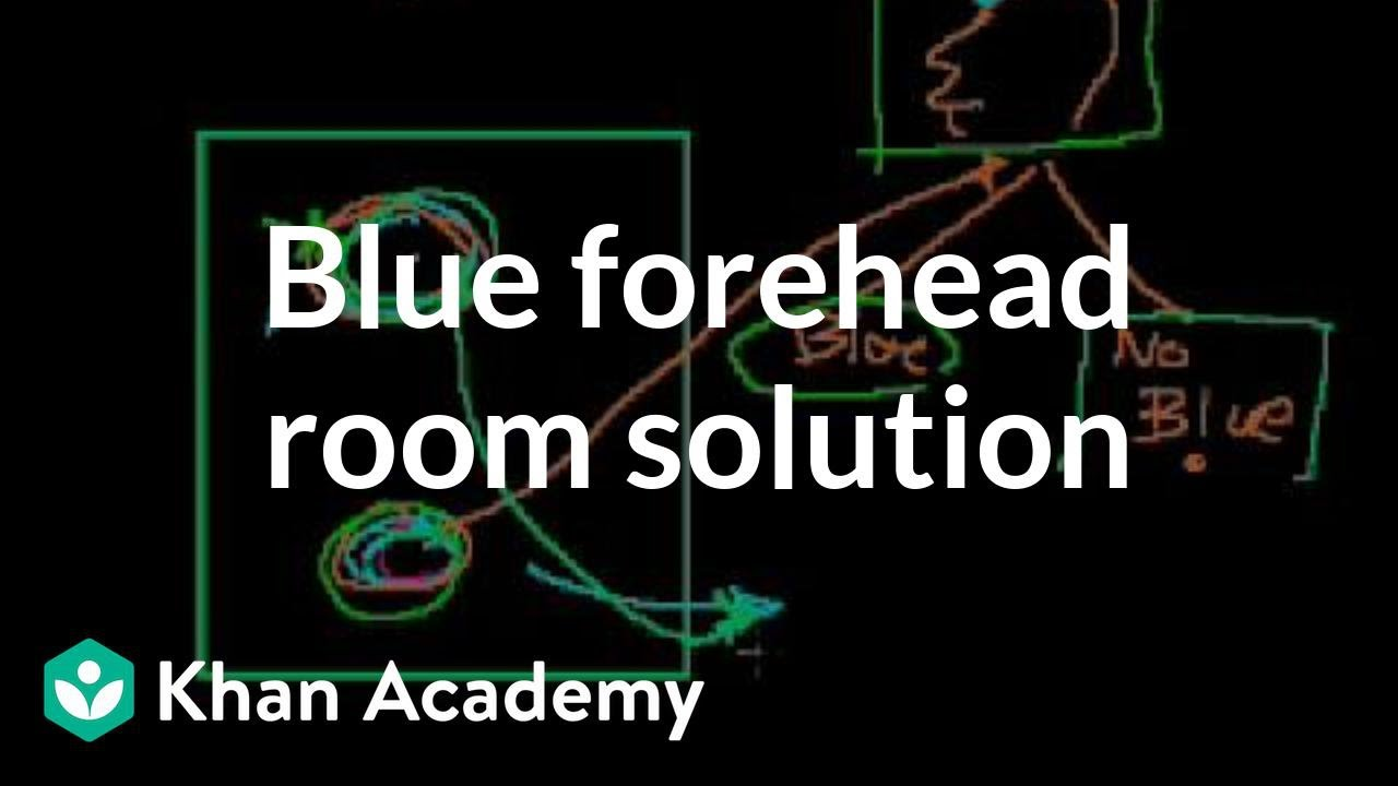 Blue forehead room solution | Puzzles | Math for fun and glory | Khan Academy