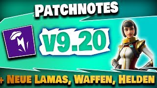 Patchnotes v9.20 - New Lamas & Interesting Content! | Fortnite Save the World