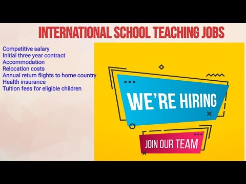 #Overcome  How To Apply Online Application International Teaching Jobs||Salary||Qualifications