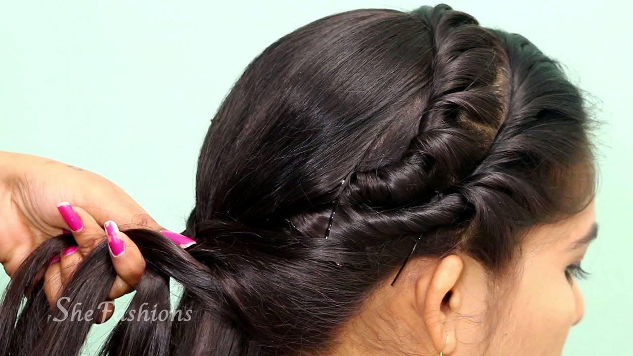 Easy Everyday Hairstyle with Trick / Messy Puff Hairstyles / Most Beautiful Side Braid Hairstyle
