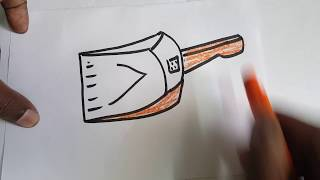 How to draw a dustpan?  drawing, sketch, art lessons, quick draw lessons for kids