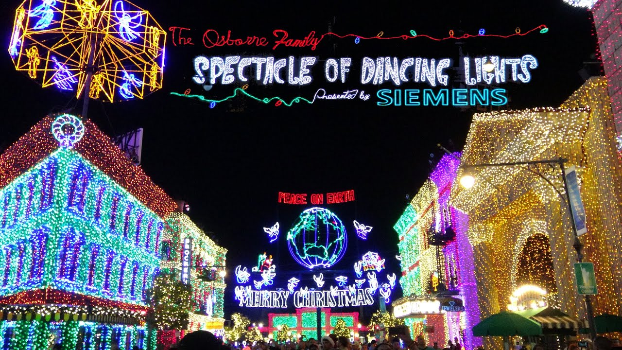 Osborne Dancing Christmas Lights In Stunning 4K Resolution Walt ...