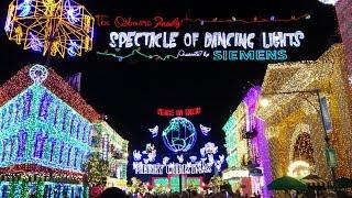 Osborne Dancing Christmas Lights In Stunning 4K Resolution Walt Disney World Hollywood Studios 2015