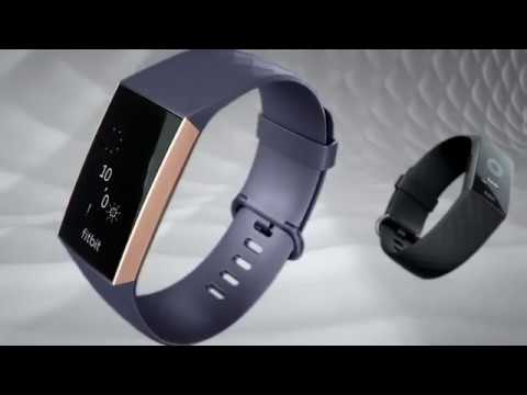 New Other Fitbit Charge 3 Activity Tracker Blue Gray// Rose Gold Aluminum