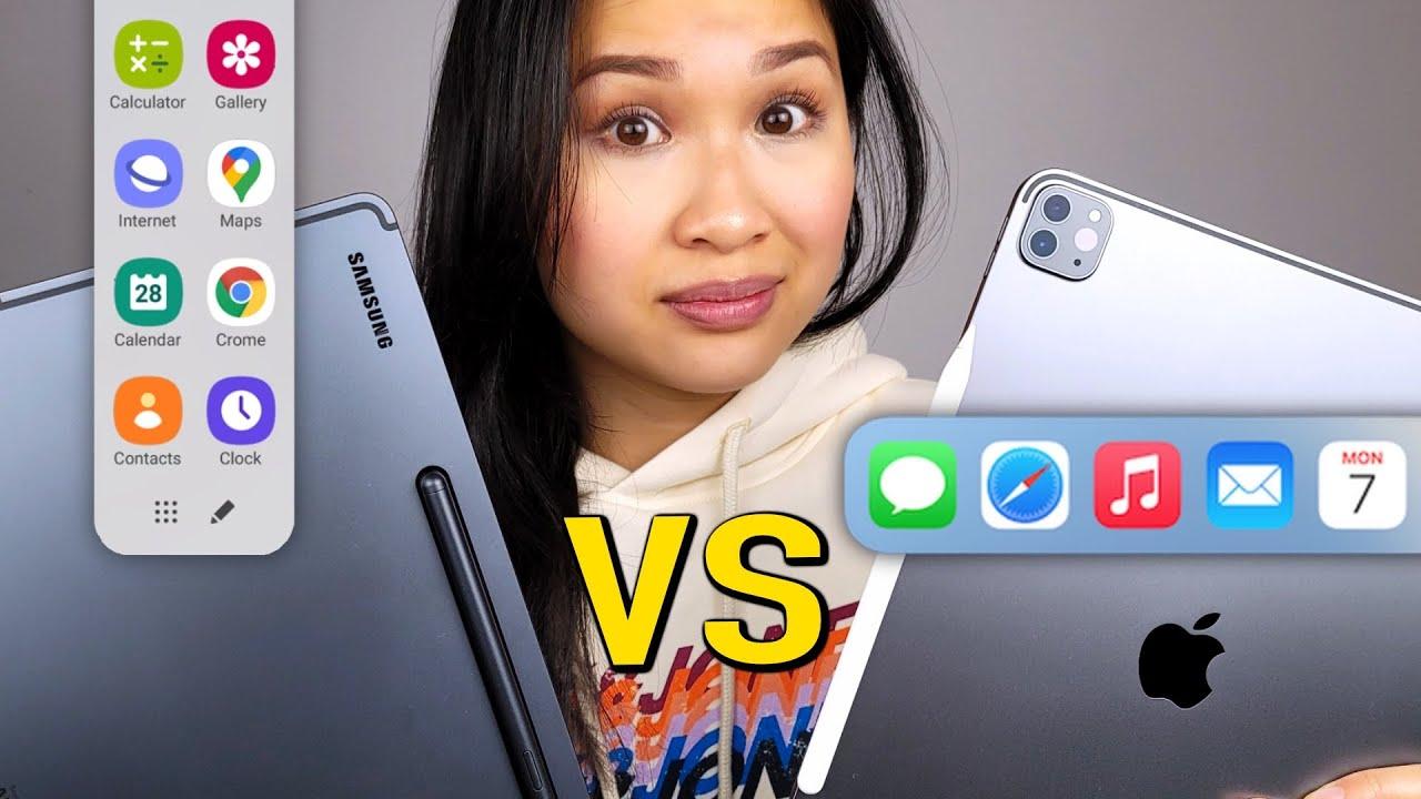 M1 iPad Pro vs Galaxy Tab S7+ // MULTITASKING!