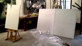 Dock Sud - Galerie d'art - Visite de l'atelier de Sète - Li Wei - Liu Zhengyong - Li Baoxun