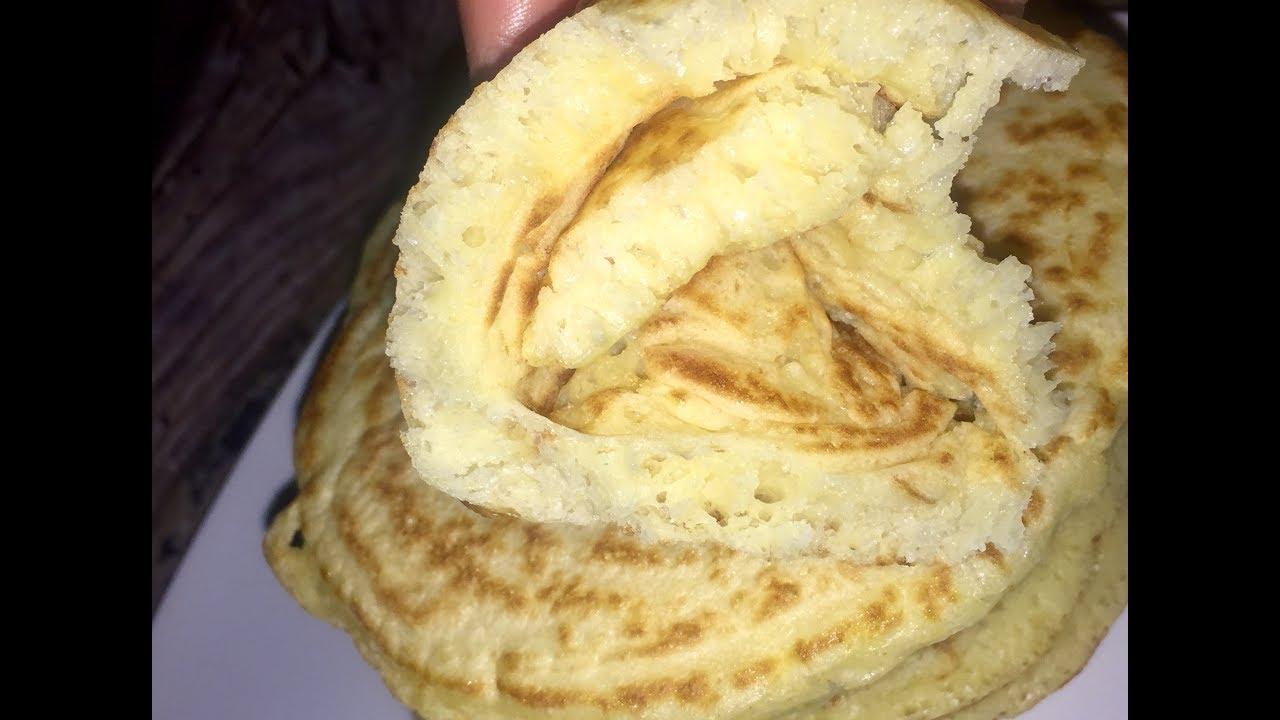 أحسن من السفنج والبغرير خفيف هشيش ولذيذ جدا المخنفر أو خبز الماوي المغربي Youtube Food Breakfast Pancakes