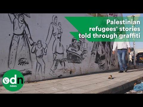 Palestinian refugees' stories told through graffiti