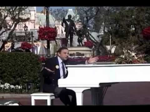 2001 Disneyland Walt Disney's 100th Birthday.  Richard Sherman sings Feed the Birds at the hub