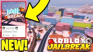 PLAYING THE JAILBREAK WINTER UPDATE EARLY! (Roblox Jailbreak)