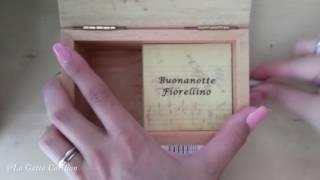 Buonanotte fiorellino - F. De Gregori, Carillon Portagioie personalizzato con spartito