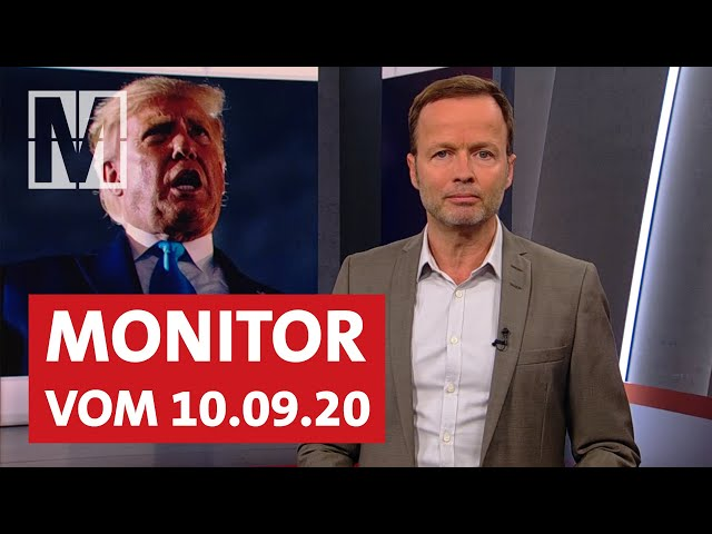 Corona-Proteste, Trump, Moria: Monitor vom 10.09.2020 mit Georg Restle