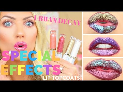 🌈🦄 Urban Decay VICE Special Effects Lip Topcoats🦄 🌈 | Lip Swatches, Review & Demo