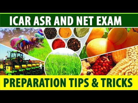 ICAR ASR and NET Exam preparation tips