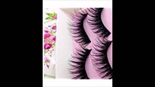 Laimeng,5 Pairs Fashion Natural Handmade Long False Black Eyelashes Makeup