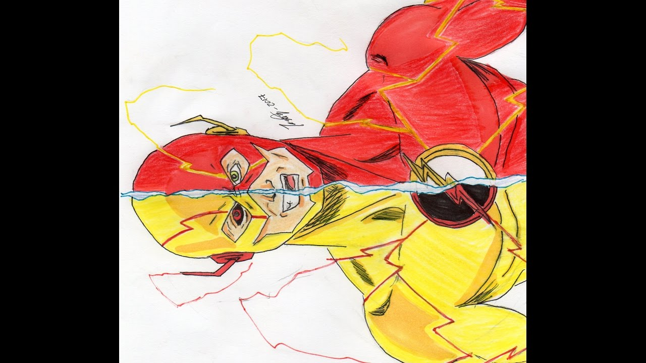 The Flash Vs Reverse Flash Speed Drawing Rulz Draws Youtube