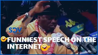 Nigerian Politician delivers hilarious speech using heavy English jargon