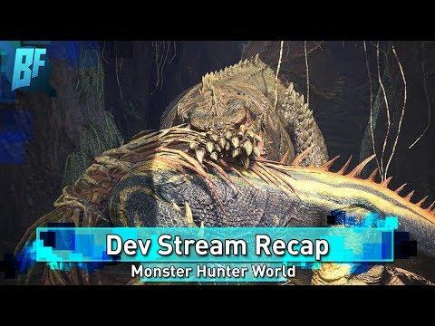 Monster Hunter World Dev Stream Recap:  Deviljho Release Date! Weapons Buffed/Nerfed