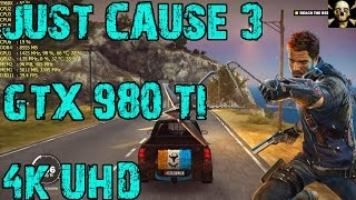 Just Cause 3 | 4K UltraHD Gtx 980 Ti  | Very High Settings Fps  Playthrough