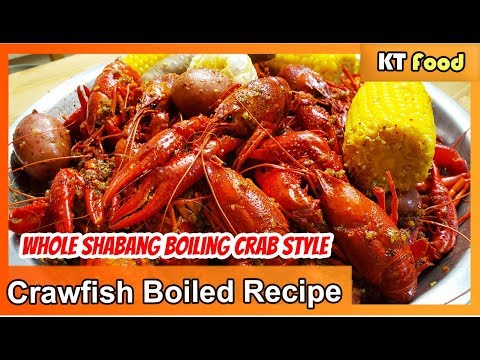 How To Boil Crawfish | WHOLE SHA-BANG Garlic Butter Sauce [BOILING CRAB'S SECRET RECIPE] | KT Food