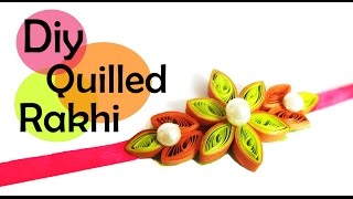 DIY-How to make paper quilling rakhi