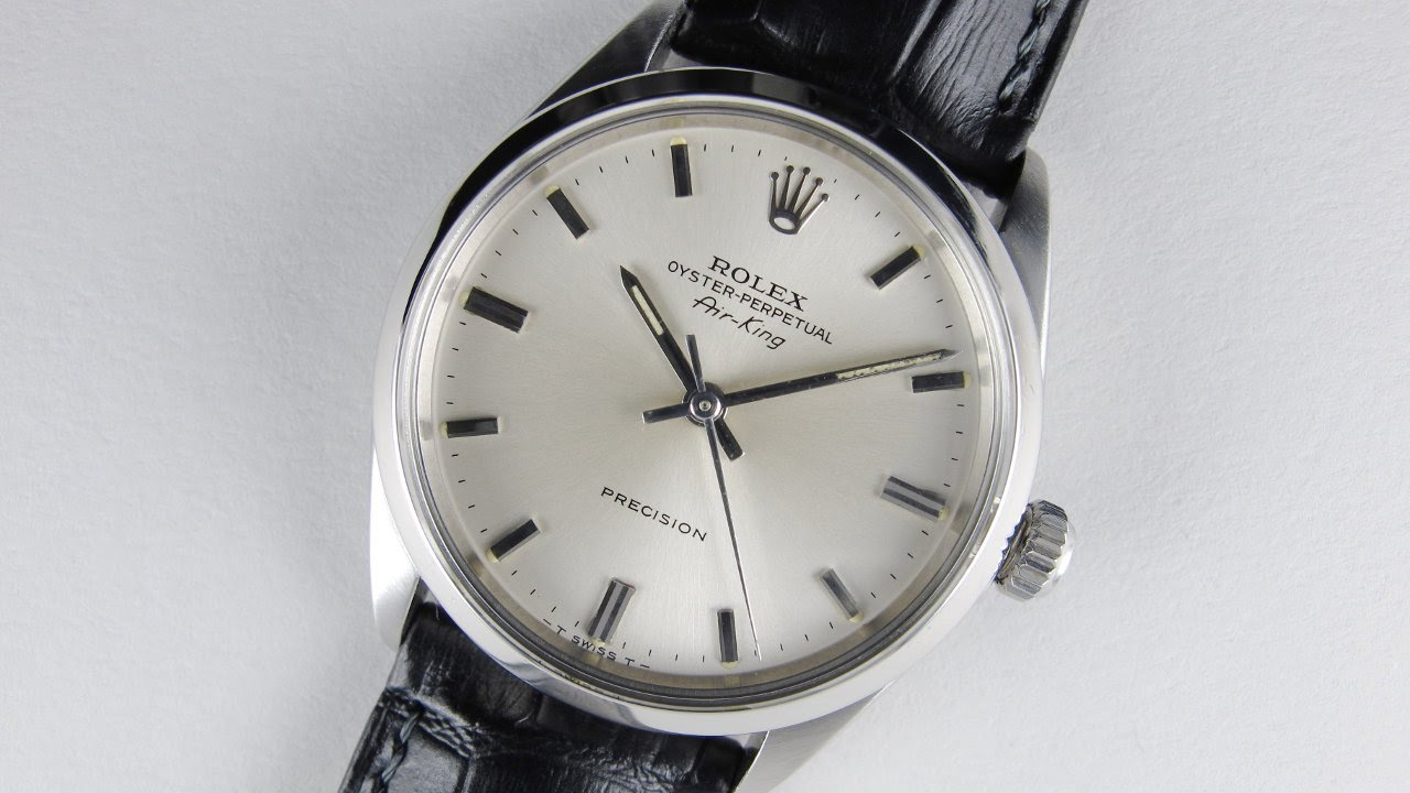 3d439f46d3063 Steel Rolex Oyster Perpetual Air-King Precision Ref. 5500 vintage  wristwatch