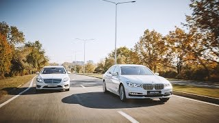 BMW 7 Series G12 vs Mercedes-Benz S-Class W222 Test Drive AutoBlog.MD