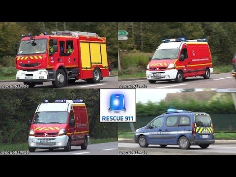 Départ pour accident - Sapeurs Pompiers de Chalon-sur-Saône + Gendarmerie