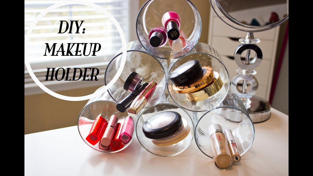 Diy makeup holder youtube solutioingenieria Choice Image