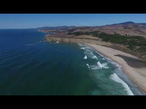 California State Route 1: Pacific coast, fishermen, surf, rocks and beaches