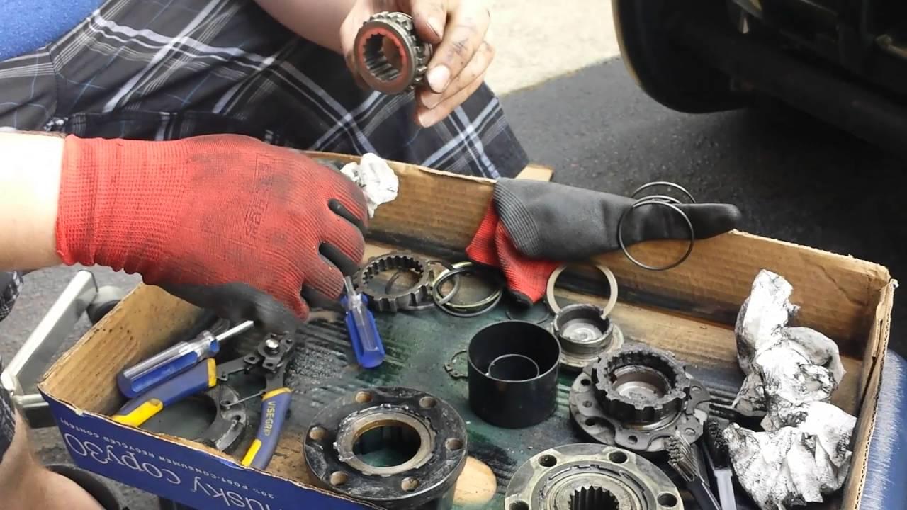 manual locking hubs isuzu rodeo youtube