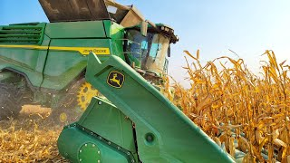 The X9 Harvests Corn!