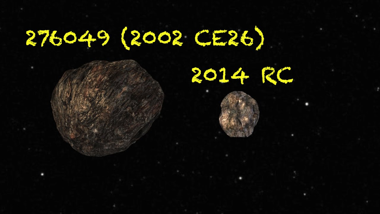 asteroid 2014 rc - 1280×720