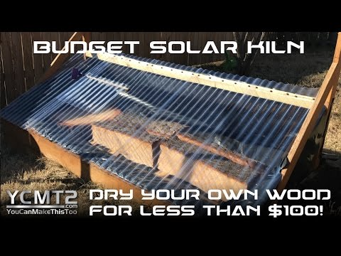 Budget DIY Solar Kiln to Dry Wood // How To
